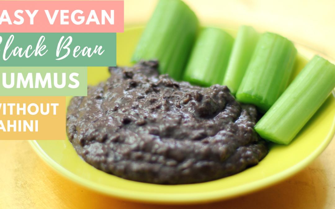 Easy Vegan Black Bean Hummus without tahini